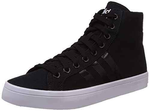 b97a0e697326 adidas Originals Men s Courtvantage Mid Black and Silver Sneakers - 13 UK   Buy Online at Low Prices in India - Amazon.in