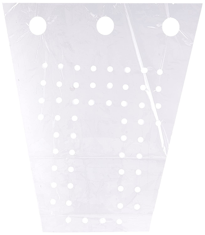 Elkay Plastics VTD12135GRP Low Density Polyethylene Vented Grape Bag with Twist Ties, 12
