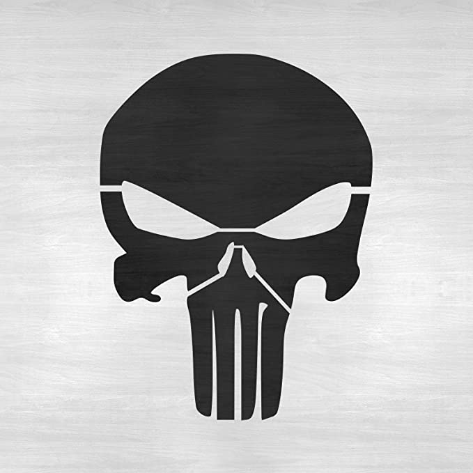 Punisher Skull Stencil Template For Walls And Crafts