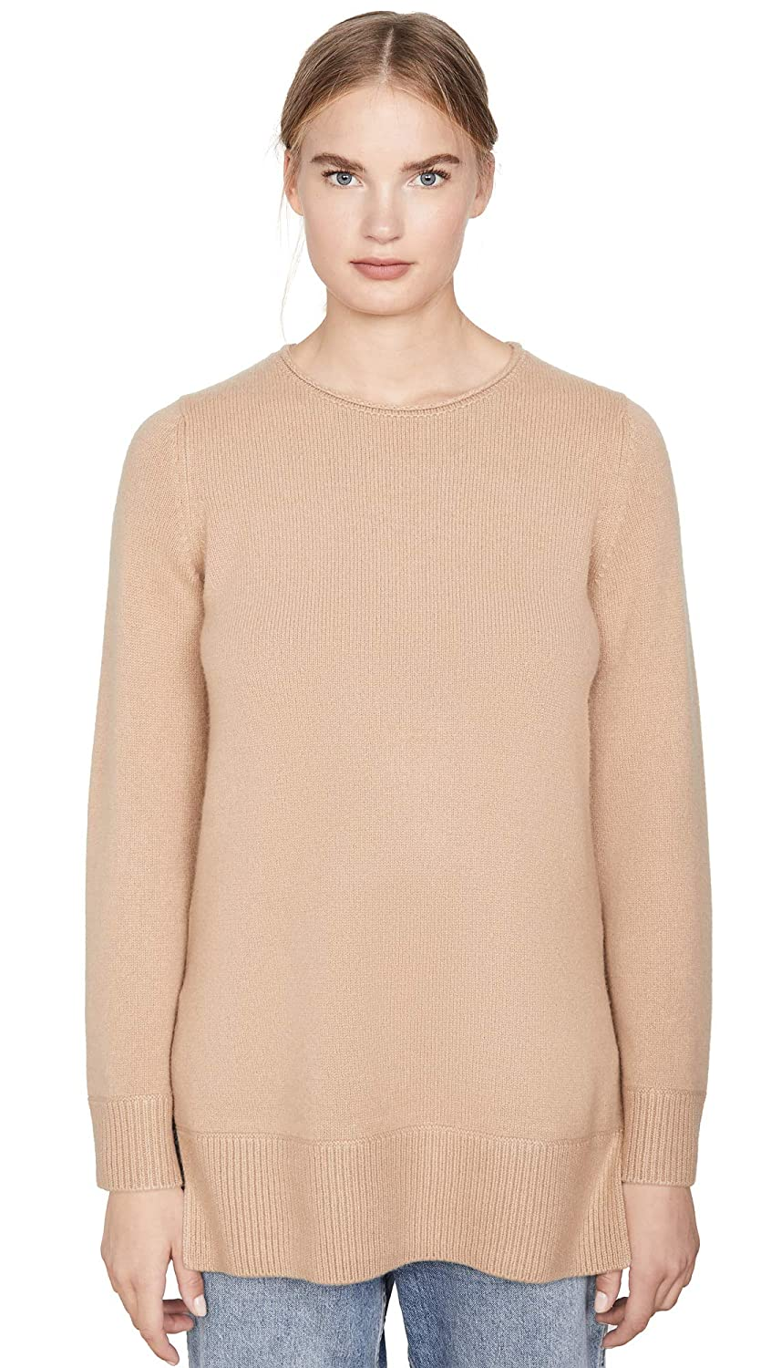 Vince Womens Crew Neck Cashmere Tunic Sweater