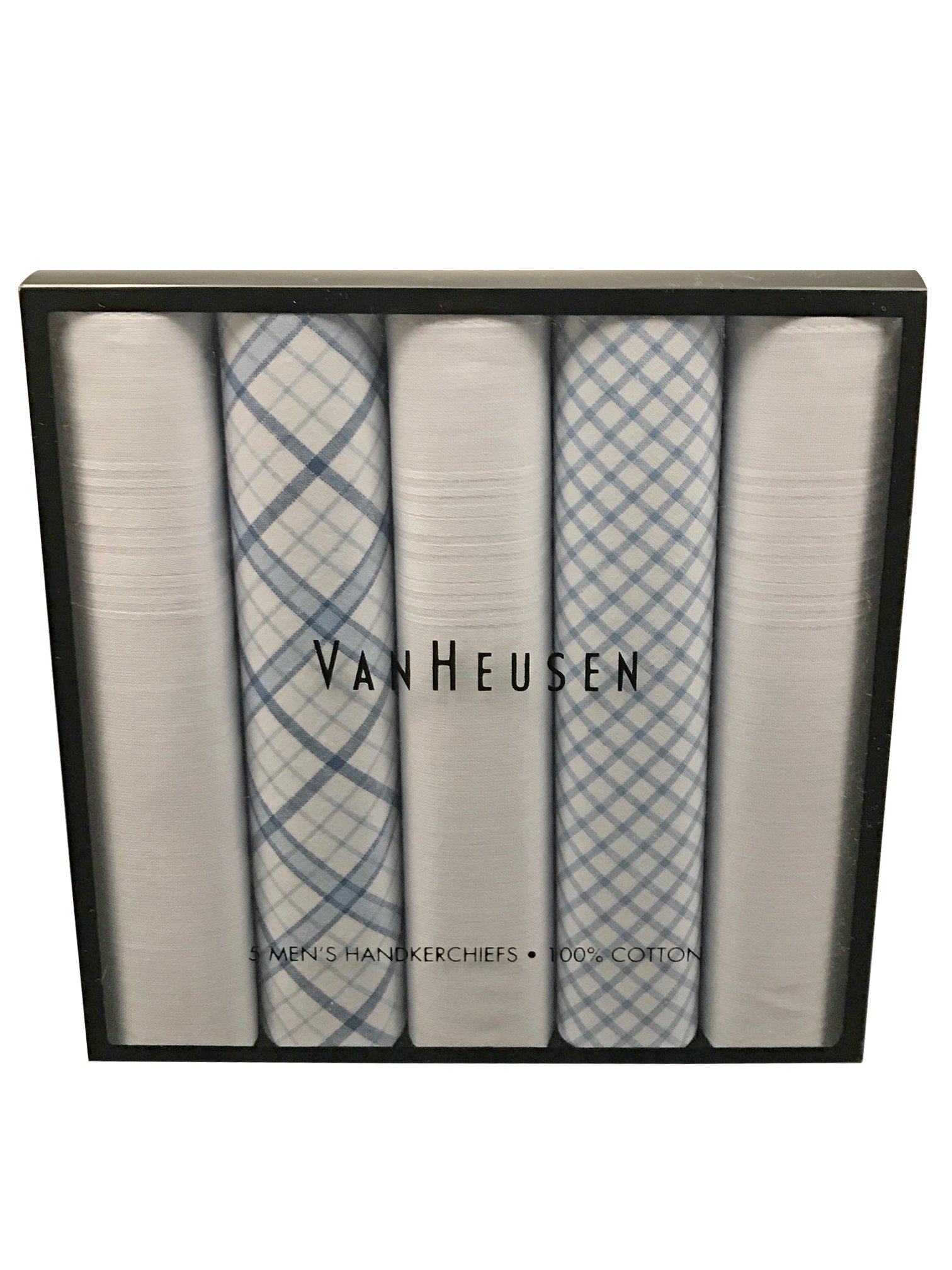 Van Heusen 5 pack Handkerchief Gift Box (Navy)