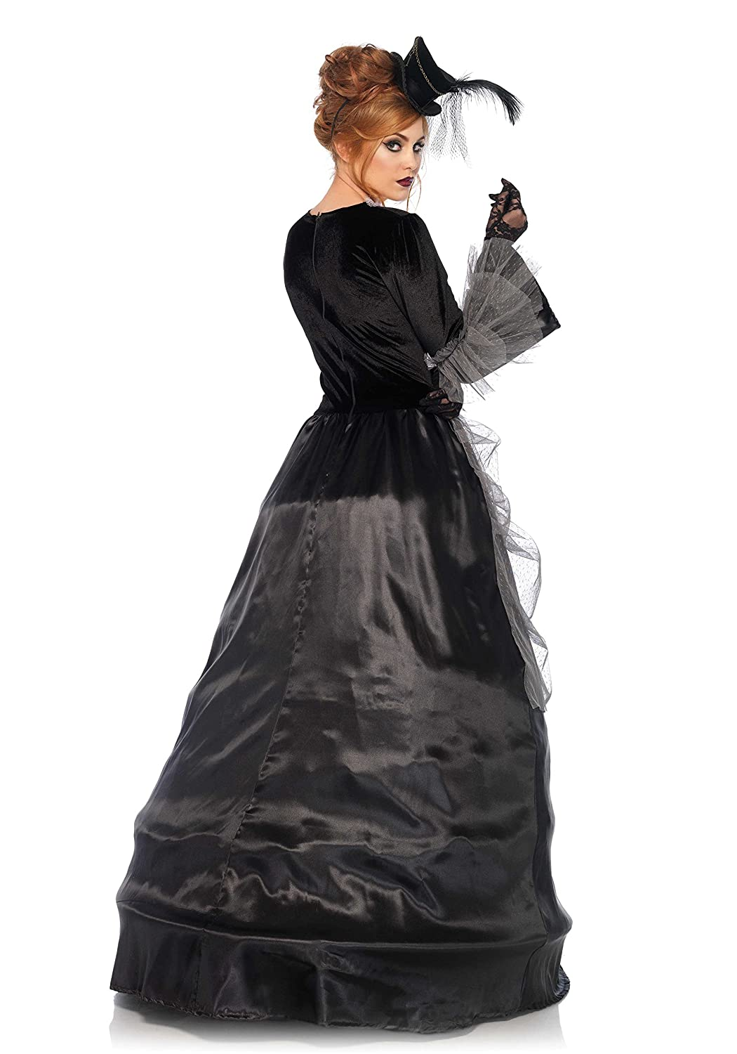Amazon.com: 1 PC. Ladies Velvet and Satin Victorian Ball Gown: Clothing