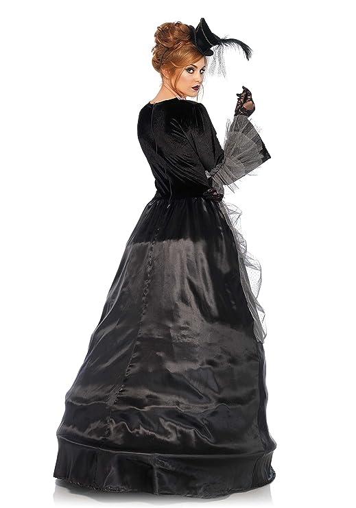 Leg Avenue 85635 Terciopelo y satén Estilo Victoriano, Ball Vestido, Mujer Carnaval Disfraz, M, Color Negro/Gris: Amazon.es: Juguetes y juegos