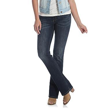 c3c8b743 Wrangler Women's Retro Sadie Low Rise Stretch Boot Cut Jean, Dark Blue,  00X34