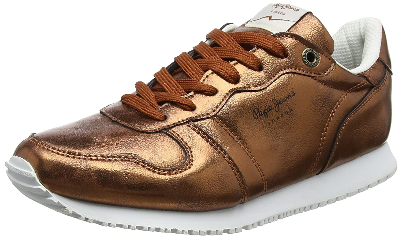 Pepe Jeans Gable Plain, Zapatillas para Mujer 37 EU|Naranja (Rust Orange)