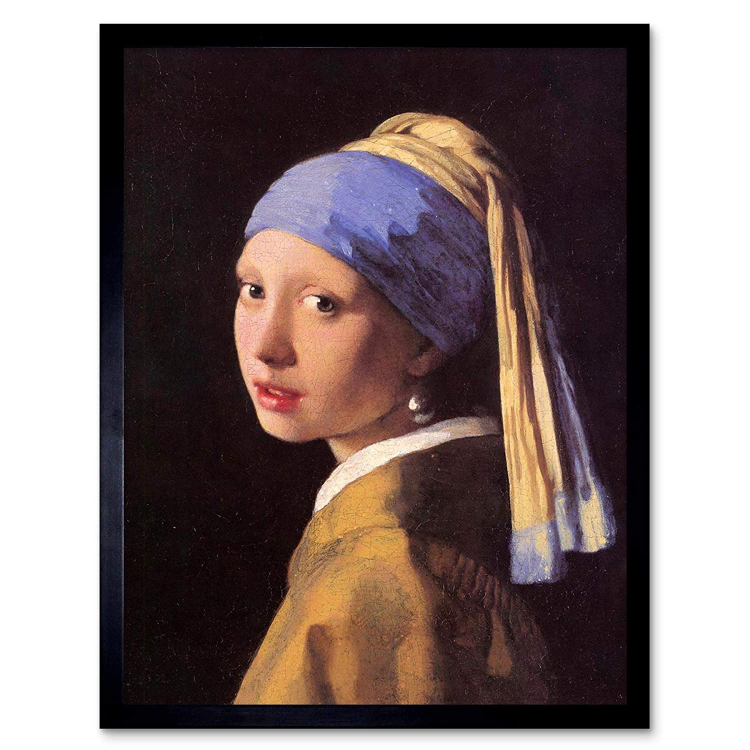 f8db3786b6e Amazon.com  Wee Blue Coo Johannes Vermeer Girl with Pearl Earring Old  Master Painting Unframed Wall Art Print Poster Home Decor Premium  Home    Kitchen