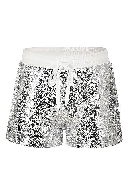 Hippolo Frauen Hot Shorts Sommer beiläufige Lose Goldene Pailletten Shorts  Stilvolle Hohe Taille Kurze Hosen ( 62da12df30