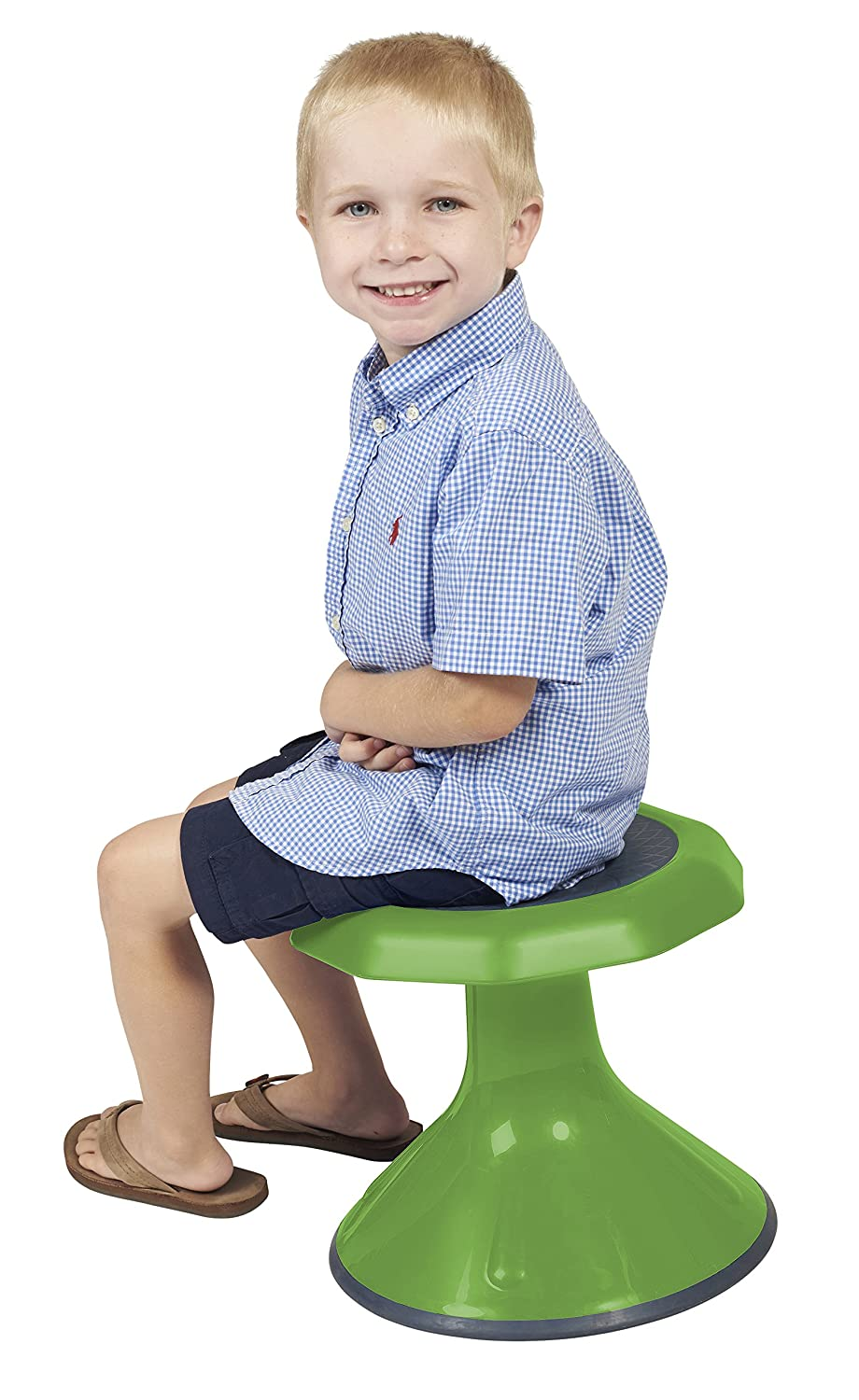 ECR4Kids ACE Active Core Engagement Stool for Kids, 12-Inch H, Black ELR-15612-BK