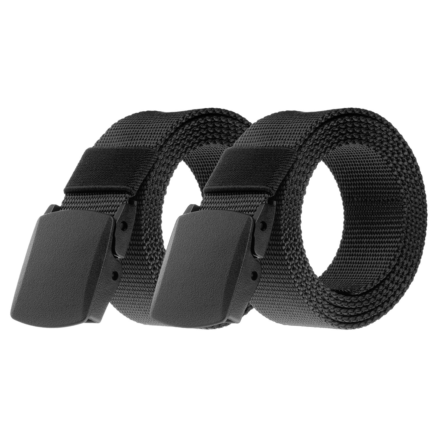 Titysur Tactical Belt Military Style Webbing Riggers Nylon Belt with Heavy-Duty Quick-Release Plastic Buckle,Web Belt 1.5 Wide 2 Pack