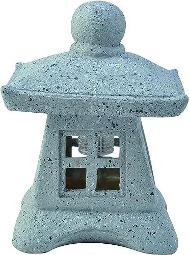 Moonrays 95568 Solar Powered Zen Pagoda 2 Pk,Stone