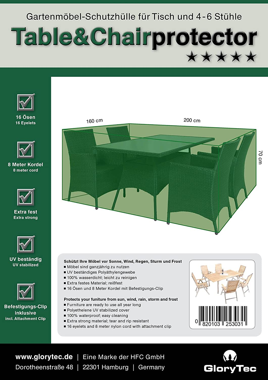 Amazon.de: Glorytec Premium Abdeckung Gartenmöbel 200x160x70 ...