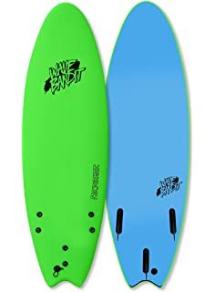 Wave Bandit Performer Tri Surfboard, Neon Green, ...