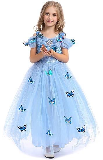 VEVESMUNDO Cinderella Aschenputtel Mädchen Kinder Prinzessin Maxi ...