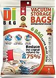 DIBAG ® 6-Pack Ahorro BOLSAS 100 X 80 CM para la ropa, edredones, ropa de cama, almohadas, cortinas y más