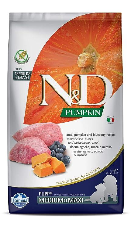 Farmina n/&d pumpkin grain free puppy medio maxi agnello zucca e mirtillo 2.5 kg