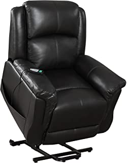 Amazoncom Seven Oaks BLKLEATHNLHD Power Lift Recliner For - Electric reclining chairs for the elderly