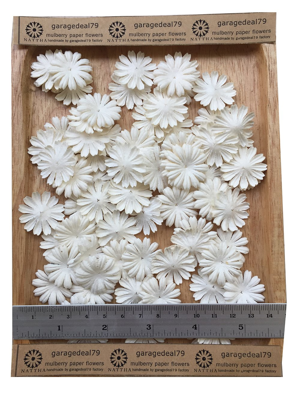 Amazon 100 White Mulberry Daisy Paper Flowers Scrapbooking