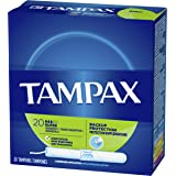 Tampax Cardboard Applicator Tampons, Super Absorbency, 20 Count (Pack of 4)