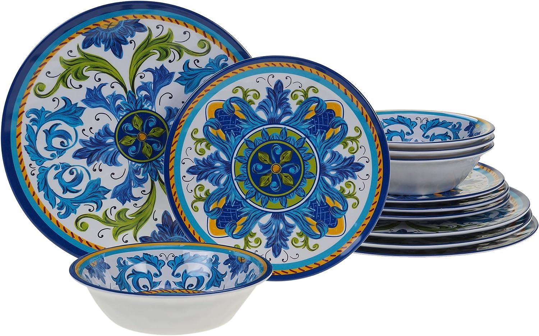 Set of 6 Certified International Portofino 11 Melamine Dinner Plate