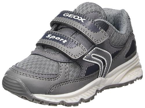 Geox J Bernie C, Zapatillas para Niños, Gris (Grey), 34 EU