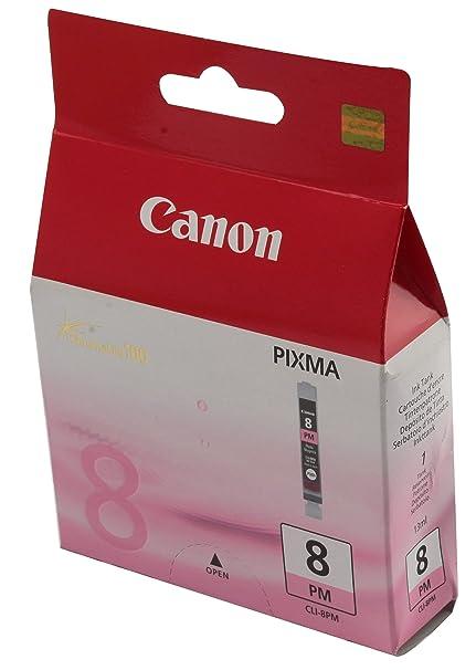 Canon CLI-8 PM Cartucho de tinta original Foto Magenta para Impresora de Inyeccion de tinta Pixma iP6600D-iP6700D-PRO9000-PRO9000MarkII