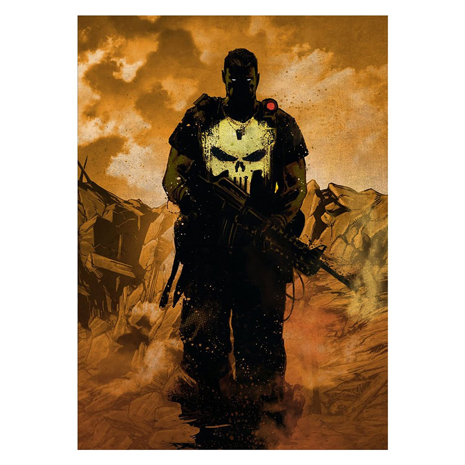 Punisher mural cartel de metal con adhesivo 45x32cm Marvel ...