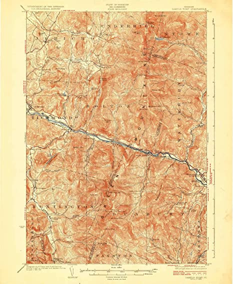 Amazon.com : YellowMaps Camels Hump VT topo map, 1:62500 Scale, 15 X ...