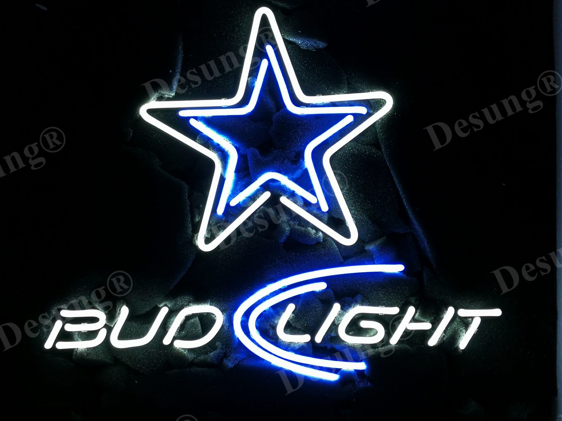 Desung Brand New 20''x16'' Sports Teams DC Bud-Light Neon Sign (Various sizes) Beer Bar Pub Man Cave Business Glass Neon Lamp Light DB119