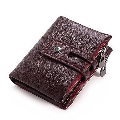 Amazon.com: Monedero para hombre, diseño minimalista vintage ...
