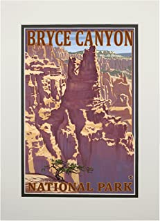 product image for Bryce Canyon National Park, Utah - Scene #1 (11x14 Double-Matted Art Print, Wall Decor Ready to Frame)