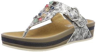 Rieker Schuhe Damen Zehentrenner Gr. 40