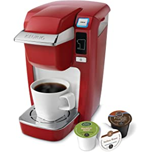 Keurig K10 Mini Plus Brewing System, Poinciana Red