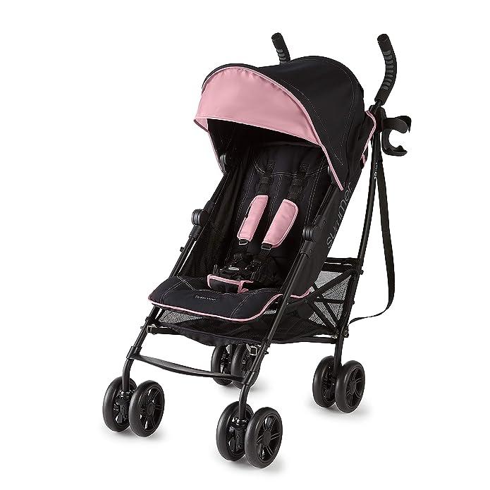 Summer Infant 3Dlite+ Convenience Stroller - Pink/Matte Black