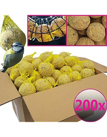 Bolas de grasa para pájaros - 200 bolas=18 kg - Alimento natural con gran
