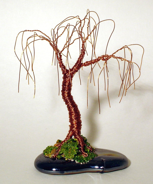 Amazon.com : Oak Bonsai Mini Wire Tree Sculpture, By Sal Villano ...