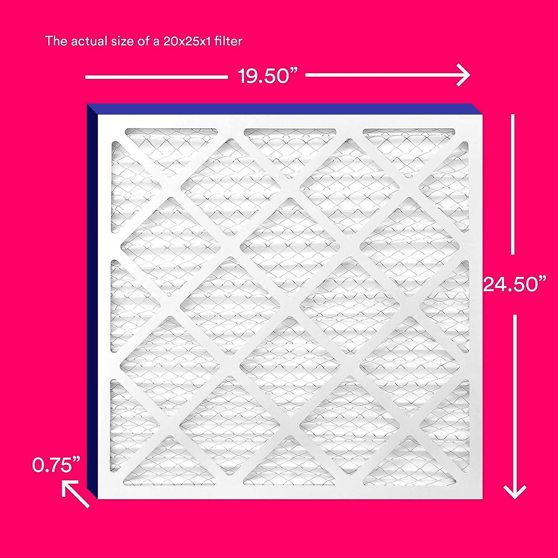 MPR 600 AC Furnace Air Filter Crisp Filters MERV 8 20x25x1 Air Filter 6-Pack