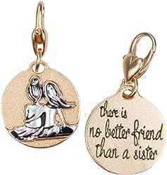 ed58009a4178b Amanda Blu Heartfelt Emotions Gold 2-Tone Medallion - Sister Friends