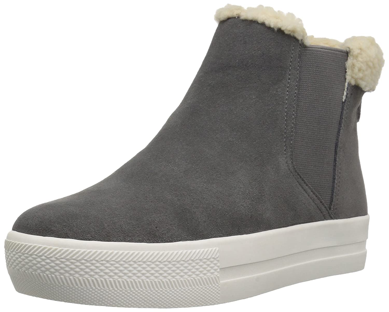 bea0dde062f Amazon Brand - The Fix Women's Joan High Top Faux Shearling Trim Sneaker