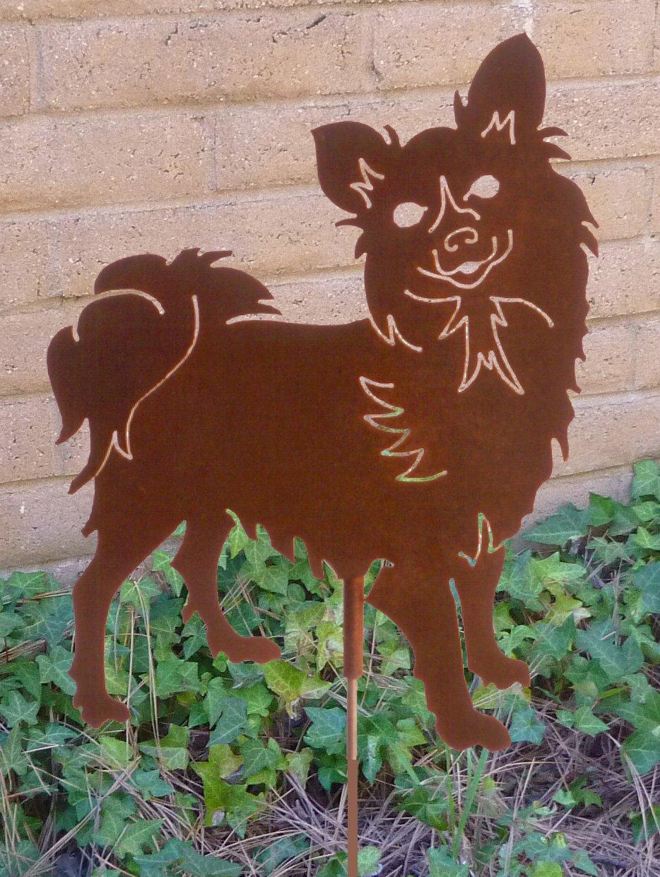 Amazon.com: Acero Haute Papillon metal perro Juego: Jardín y ...