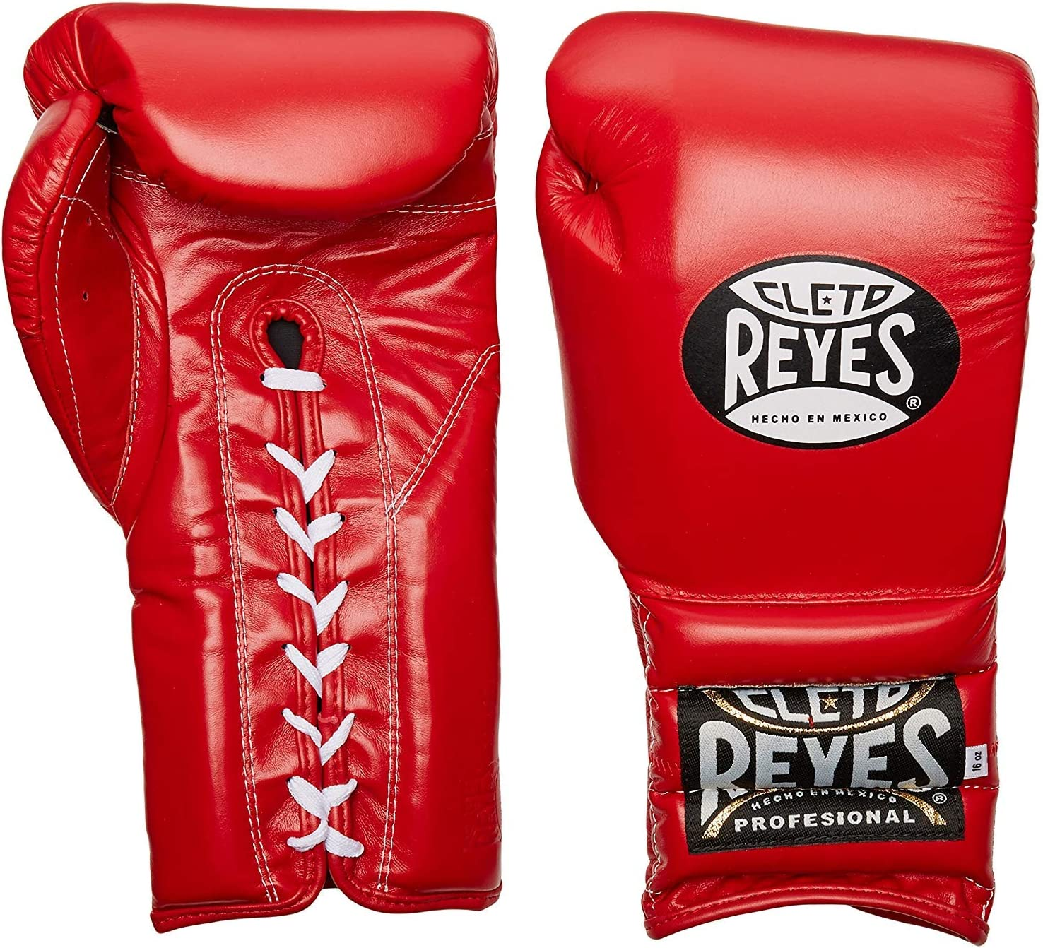 Red 14oz Cleto Reyes Traditional Lace Up Training Boxing Gloves