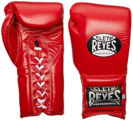 Cleto Reyes Traditional Lace Up Training Boxing Gloves - 14 oz - Red