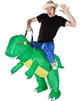 Bodysocks - Inflatable Dinosaur Piggyback Blow Up Animal T-REX Adult Fancy Dress Costume