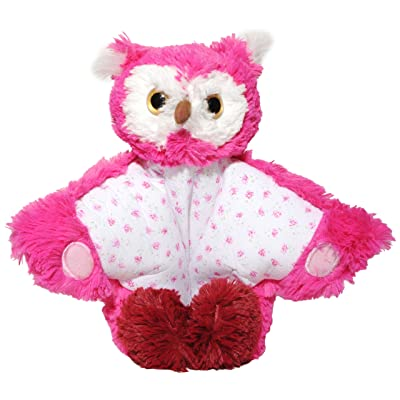 Aroma Home Peluche Coussin Standing Chouette Rose