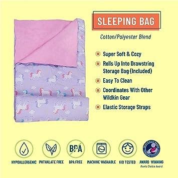 Children Cartoon Sleeping Bag Lazy One-Piece Pajamas Sleeping Bag with Pillow Sleeping Bag-Large 66 Inches X 30 Inches Green White Unicorn