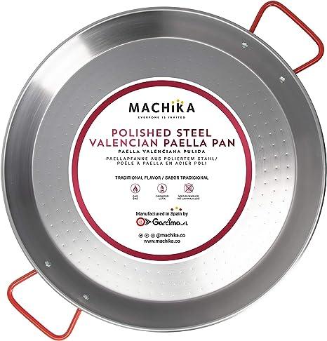 Machika Enameled Steel Paella Pan 17 inch 42 cm