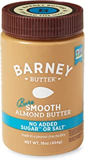 product image for BARNEY Almond Butter, Bare Smooth, No Stir, No Sugar, No Salt, Non-GMO, Skin-Free, Paleo, KETO, 16 Ounce