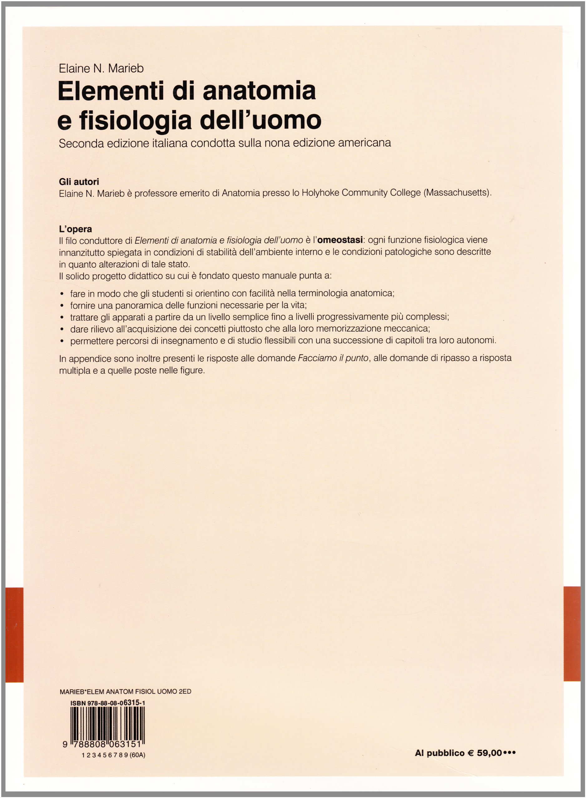 Elementi di anatomia e fisiologia dell\'uomo: Amazon.it: Elaine N ...