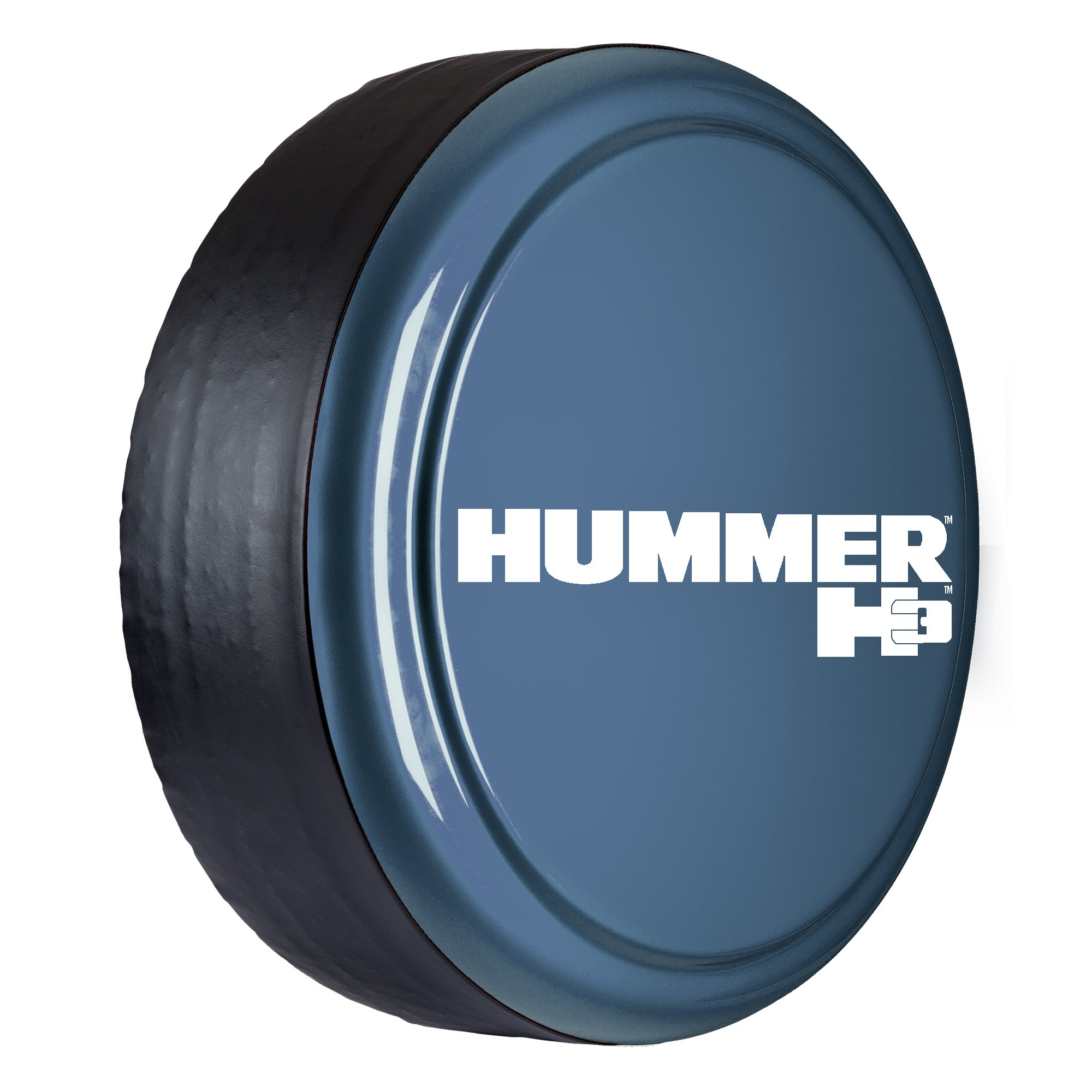 Hummer H3 - 33'' Color Matched Rigid Tire Cover - (Hard Plastic Face & Vinyl Band) - Slate Blue Metallic