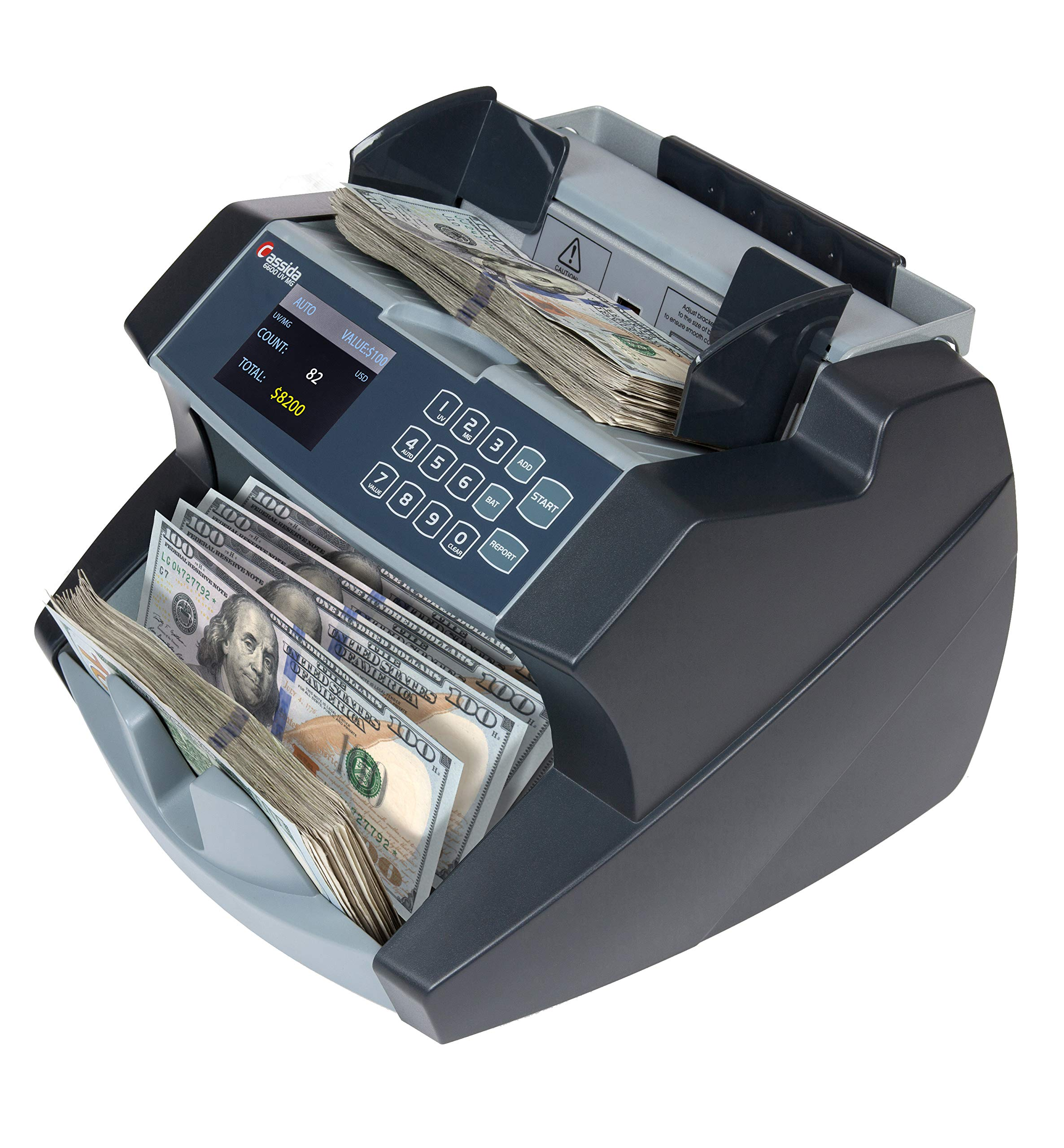Cassida 6600 UV/MG Counterfeit Detection Business Grade Currency Counter by Cassida