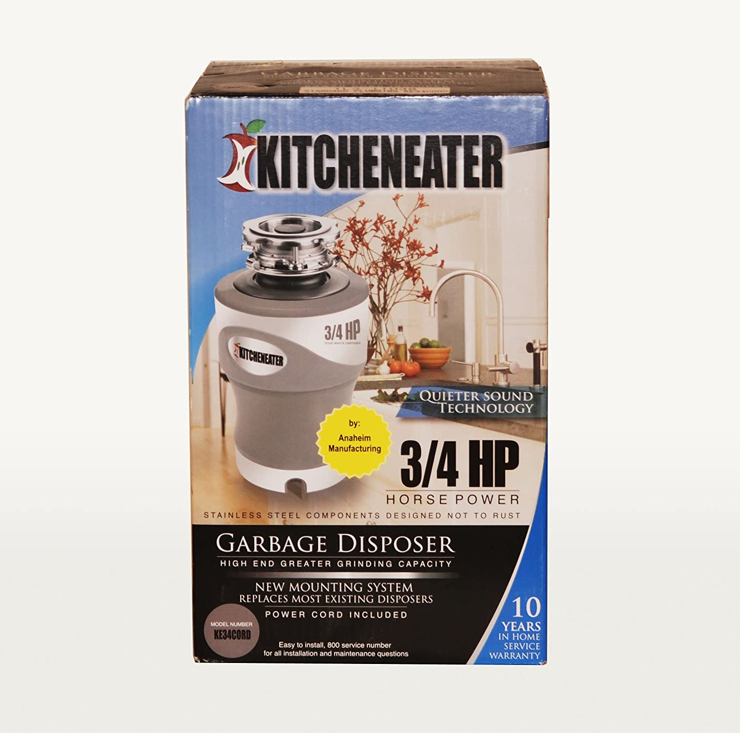 Kitcheneater Ke34pc 3 4 Hp Garbage Disposer Food Waste Disposers Disposal And Electrical Wiring Outlet Connection Fix All
